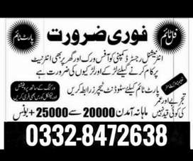 Jobs available in lahore...