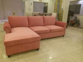 Five Seats Lounge Sofa For Pink Lovers.