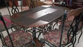 6 Persons Dining Table with Chairs