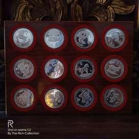Uang koin kuno singapore 10 dolar shio 1981-1992