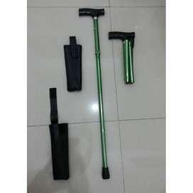 Alat Bantu Jalan Tongkat Kaki Lipat Single Walking Stick Pocket 1