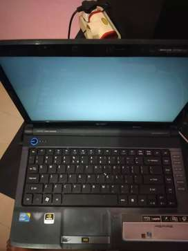 Laptop 2nd acer core i3 ram 4 hdd 500gb