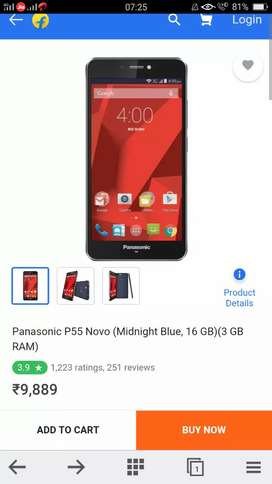 Panasonic p55 Novo 4gb 3gb 16gb