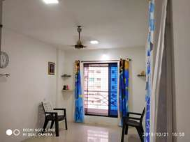 1 bhk AC Flat with three balcony.