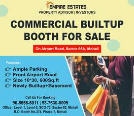 10*30 Builtup Booth+Basement For Sale on Airport Road, Mohali