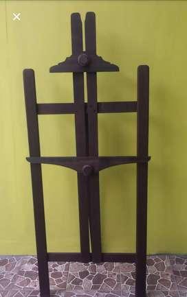 Stand Lukis & Cat - Artistic Wooden Easel - Penyangga Promosi+Lukisan