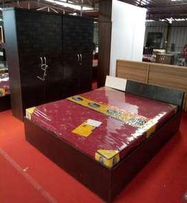 Factory model wood Bedroom set.