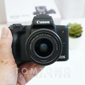 Canon EOS M50 Kit Ex Datascript (Mulus) Kamera Mirrorless