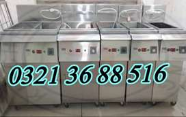 Commercial kitchen deep fryer local made , pizza oven machinery