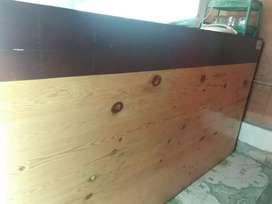 Meja kasir dan packing kayu