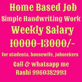 Home Based Job for jobseekers