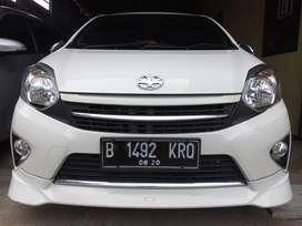 Toyota Agya TRD manual putih 2015 km 5000 record Antik TotalDp.9jt