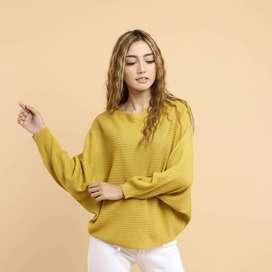 Sweater Rajut Wanita GK LASPERAL KUNING