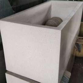 Pot Kotak Panjang Terazo Glossy 1M