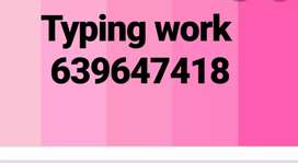 Type writing- work availiable all OVER INDIA