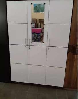 Lemari 3 pintu minimalis putih siap cod