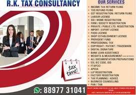 GST REGISTRATION, FOOD LICENSE, FIRM REGISTRATION, INCOME TAX FILING