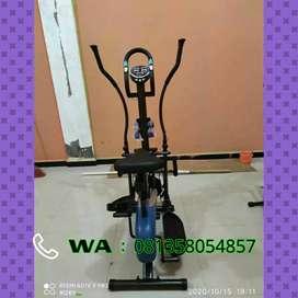 Sepeda fitnes orbitrack plat 5 fungsi bisa cod