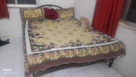 Double Bed with Mattress and Diwaan