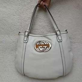 Gucci putih kulit asli shoulder bag