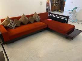 8 seater Sofa Set (L shape) in excellent condition (3years old)