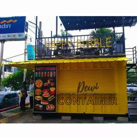 CONTAINER JUALAN. BOOTH FOODCOUT KEKINIAN. CAFE BAR