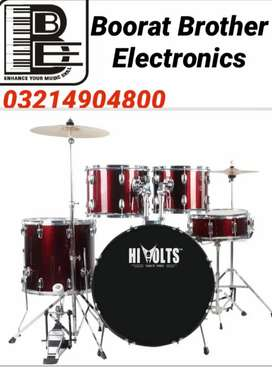 Drum Kit 7 pc hi quality available at Boorat Brothers Electronics
