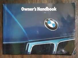 Buku panduan pemilik BMW series 5 - 1990