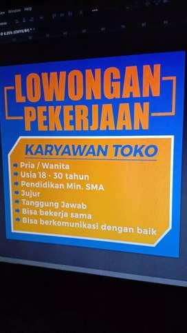 Dicari Pramuniaga Toko Domisili Surabaya Timur Minat Contact!