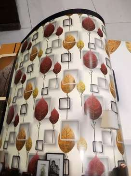 Wallpaper and glass paper