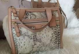 Tas fossil tessa snake satchel
