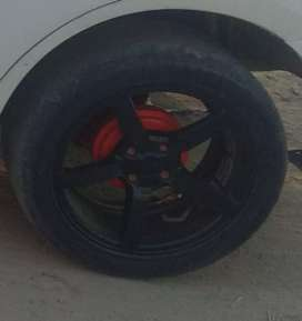 Alloy wheels of vxi swift desire with tyre for sell