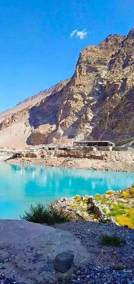 A 4.5 Kanal Commercial Plot for Sale on the bank of Attabad lake