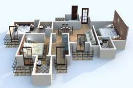 3 bhk flat for rent mapple height SL-1