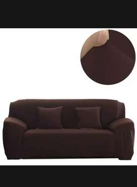 Brown Color Sofa Cover Available for 7 seater
