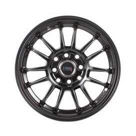 Velg Mobil Honda Brio - HSR Revo Ring14  Semi Matte Black