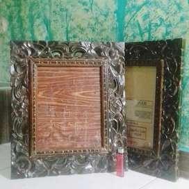 Bingkai frame pigura foto kayu ukir antik lawas unik vintage classic