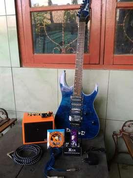 Gitar Ibanez Premium Beserta Efek dan Speaker