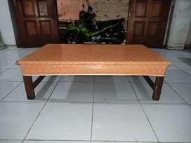 Meja Kayu Warung Lesehan ukuran 120x75x35
