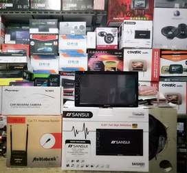 Plus Pasang,SANSUI layar full HD,Konek Stir, MP4+Camera pioneer+Antena