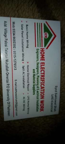 Home Electrification work
