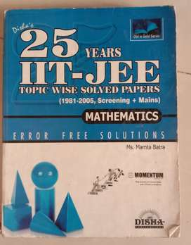 JEE solved Papers 2books