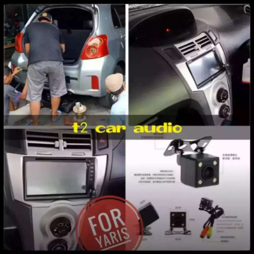 Dvd 2din android link for YARIS+camera hd harga grosir suroboyo 0