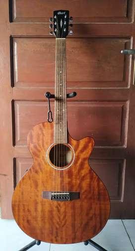 Gitar akustik elektrik ori cort mantap siap pakai harga pas