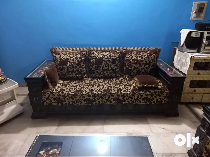 2 years old wooden sofa