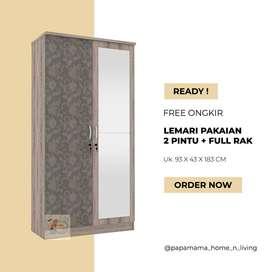 lemari Pakaian 2 Pintu - Lemari Baju Aruna - Medan