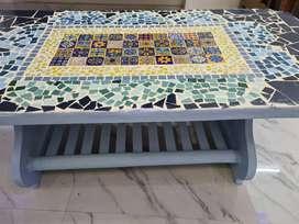 Coffee mosaic table