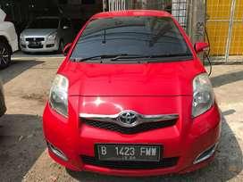 Toyota Yaris E matic 2010 warna merah Siap Pakai
