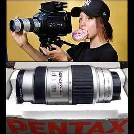Lensa semi manual tele Pentax FA 80-320 Rare Item DSLR Mirrorless