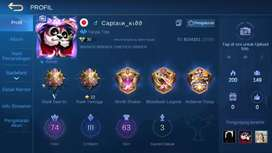 Akun Mobile legend tier mythic